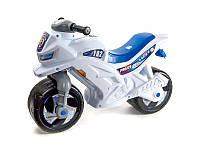 Мотоцикл 2-колесный с каской БЕЛЫЙ Орион (m+)