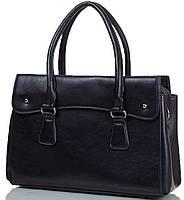 Деловая женская сумка из искусственной кожи и натуральной замши ANNA&LI (АННА И ЛИ) TU14209-black