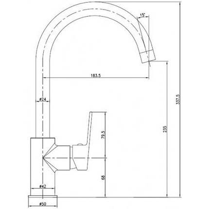Imprese LESNA смеситель для кухни, хром, 35мм, фото 2