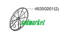 Защита заднего колеса газонокосилки AL-KO Silver 46 BR