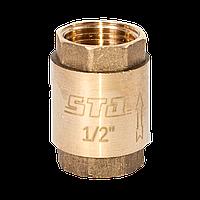 """Клапан обратный 1/2"""" с латунным штоком STA"""