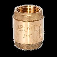 """Клапан обратный 3/4"""" с латунным штоком STA"""