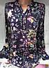 Блуза с цветочным принтом женская (вискоза)