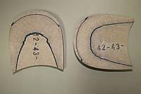 Каблук деревянный (мазанит) (высота-18 мм) размер 42-43