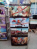 """Комод на 4 ящика с декором """"самолетики""""  Алеана"""