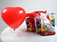 Шарики воздушные Сердце пастель красное 100 шт. п/э /50/ (m+)