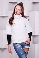 Женская куртка укроченный рукав Андорра  р. 40-48 белый