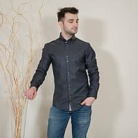 Рубашка мужская c большим количеством пуговиц