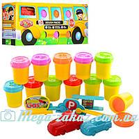 Тесто для лепки (пластилин для лепки) Машина 0686: 12 цветов + 3D формы машин
