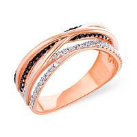 Золотое кольцо с переплетением