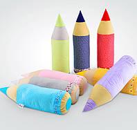 Подушка валик для ребенка в форме карандаша