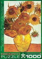 """Пазл """"Двенадцать подсолнухов"""" Винсент ван Гог, 1000 элементов, EuroGraphics, фото 1"""
