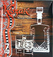 "Набор для водки ""Козаки"" (Графин 0,5 л + 6 стопок 50 гр)"