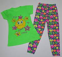 Костюм летний на девочку 4,5,6,7 лет. Детская одежда оптом Турция.