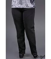 Женские черные брюки большого размера Леди Olis-style 54-64 размеры