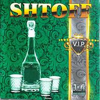 "Набор для водки ""SHTOFF"" (Графин 0,5 л + 6 стопок 50 гр)"
