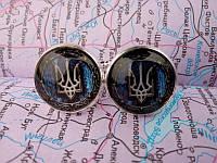 Патриотические мужские запонки Тризуб. Супер подарок для стильного мужчины. Хорошее качество.   Код: КГ719