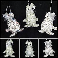 """Яйцо - кролик, пасхальный декор """"Веселун"""",65/75,18 см (разные цвета)(за 1 шт+10 грн)"""