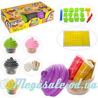 Тесто для лепки (пластилин для лепки) Капкейк 0829: 6 цветов + формочки + инструменты