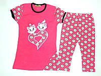 Костюм летний на девочку рост 110,116,128,140 см. Детская одежда оптом Турция.