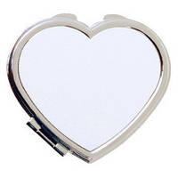"Зеркальце в форме ""Сердце"" для сублимации"