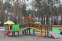 """Игровой комплекс зелено-фиолетово-оранжевый """"Волна-NEW"""" TЕ812 NEW, фото 3"""
