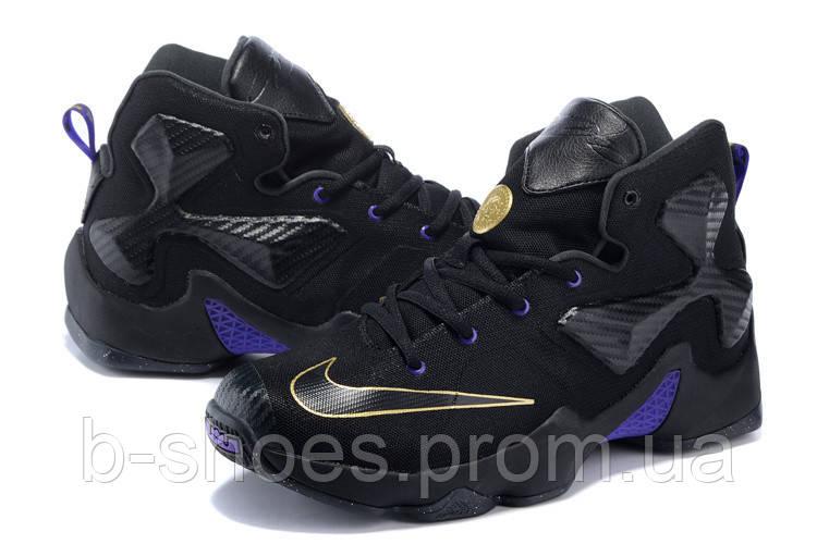 Детские баскетбольные кроссовки Nike LeBron 13 (Black/Purple-Gold)