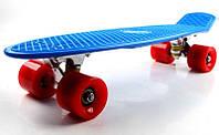 Пенни Борд Penny Board. Синий цвет. Красные колеса.