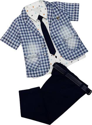 Нарядный костюм на мальчика (пиджак, рубашка, брюки, галстук) ТМ Oryeda размер 86 92 98, фото 2