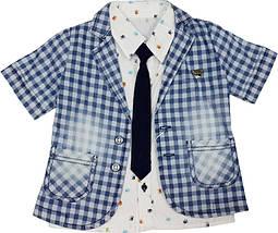 Нарядный костюм на мальчика (пиджак, рубашка, брюки, галстук) ТМ Oryeda размер 86 92 98, фото 3