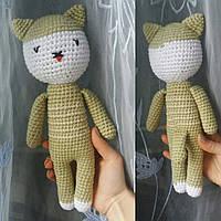 """Вязанная игрушка-сувенир """"Котенок"""", стиль минимализм"""
