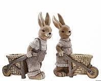 Дизайнерские пасхальные зайцы 48cм
