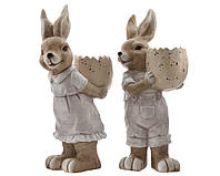 Дизайнерские пасхальные зайцы 49,5 cм