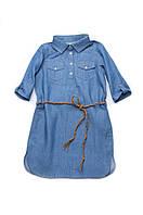 Платье джинсовое детское, джинсовое платье-рубашка для девочек, летнее Family Look