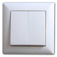 Visage Белый Выключатель 2-х клавишный