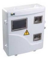 Щит для счетчика 1/3-ф. ЩУРн-П 3/6 IP55 пластиковый IEK