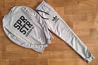 Мужской Спортивный костюм серый Adidas