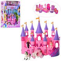 Замок SG-2976 (10шт) принцессы,35-33-10см,карета,мебель,фигурки,муз,св,на бат,в кор-ке,9-49,5-13см