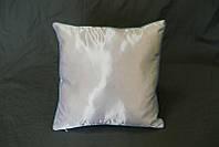 Подушка сублимационная квадратная атласная кант (голубой)  35*35