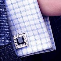 Торжественные оригинальные мужские запонки. Отличное качество. Доступная цена. Дешево. Код: КГ723