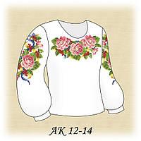 Вишиванка для дівчинки Святкова АК 12-14 домотканне біле полотно