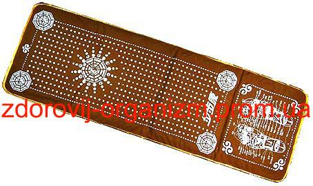 Турмалиновый массажный коврик c магнитами биофотонами и германием