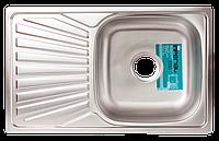 Мойка для кухни врезная прямоугольная 780 х 480x 175/180 IMPERIAL 0,8 декор