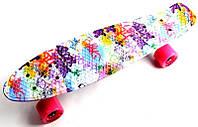"Пенни Борд Penny Board ""Fish"" Graffity."