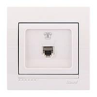 Розетка телефонная евро  Lezard DERIY 702-0202-137 белый