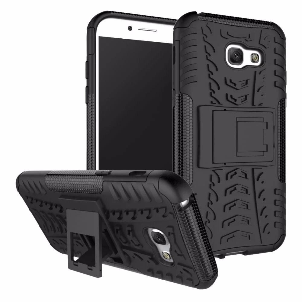 Чехол Samsung A720 / A7 2017 противоударный бампер черный