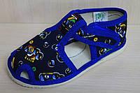 Открытые детские тапочки для мальчика детская обувь тм Экотапок Украина размеры с 13,5 по 19,5