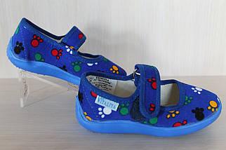 Детские тапочки на липучках для мальчика текстильная обувь Виталия Украина размер с 23 по 27, фото 2