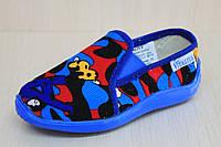 Домашние тапочки в садик на мальчика текстильная обувь тм Виталия Украина р.25