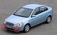 Противотуманные фары Hyundai Accent c 2006 - / Производитель DLAA
